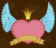 Heart banner stock illustration