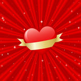 Heart with banner Royalty Free Stock Images