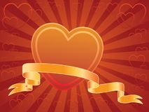 Heart and banner Royalty Free Stock Photos