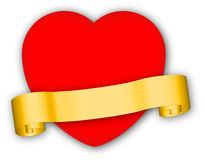 Heart with banner Royalty Free Stock Photography