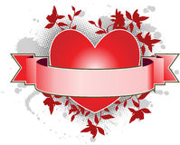 Heart banner Royalty Free Stock Photography