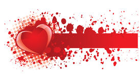Heart banner Royalty Free Stock Images