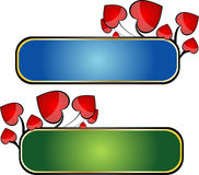 Heart banners Royalty Free Stock Image