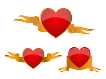 Heart banners Stock Photo