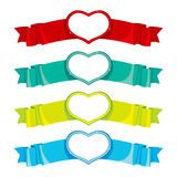 Heart Banners Collection Royalty Free Stock Photos