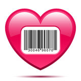 Heart with bar code label Stock Photo