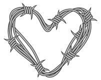 Heart in barbed wire Royalty Free Stock Images