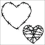 Heart of barbed wire Stock Photo