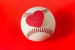 Heart on baseball Royalty Free Stock Image