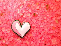 Heart on bath salt Stock Image