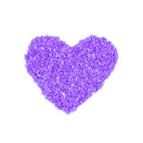 Heart from bath salt  isolated on a white Royalty Free Stock Photo