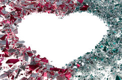 Heart of bauble fragments Royalty Free Stock Photography