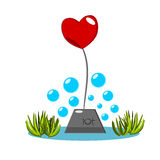 Heart be drowned  Stock Photo