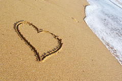 Heart on the beach Royalty Free Stock Photography