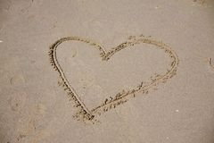 Heart beach Stock Image