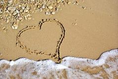 Heart on beach Royalty Free Stock Photo