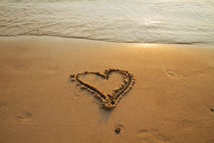 Heart on beach Royalty Free Stock Photos