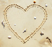 Heart on the beach Royalty Free Stock Images