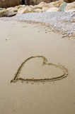 Heart on the beach. Royalty Free Stock Photos