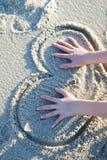 Heart on the beach Stock Image