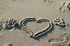 Heart on the beach Stock Photo