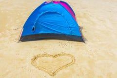 Heart on the beach Stock Photography