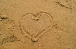 Heart and beach royalty free stock images