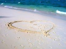 Heart on a beach Stock Image