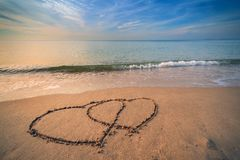 Heart on the beach Royalty Free Stock Photo