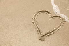 Heart on the Beach Royalty Free Stock Image