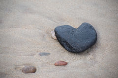 Heart on the beach. Stone heart on the beach of Baltic sea Stock Photography