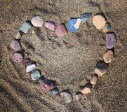 Heart beach Stones pebbles love Royalty Free Stock Images