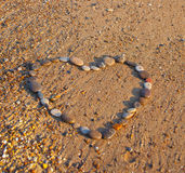 Heart at the beach Royalty Free Stock Image