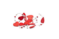 Heart bead Stock Photo