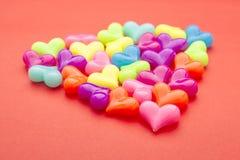 Heart bead group Royalty Free Stock Photos