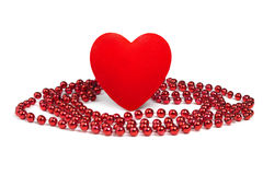 Heart&beads-1 Stock Images