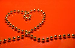 Heart from beads stock images