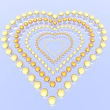 Heart from beads Stock Photography