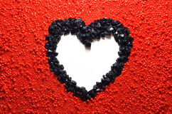 Heart beads frame Royalty Free Stock Photography