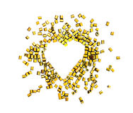 Heart of beads Stock Image