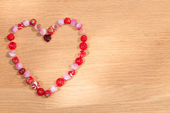 Heart of Beads Stock Images
