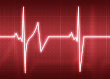 Heart Beat. A medical background with a heart beat / pulse with a heart rate monitor symbol Royalty Free Stock Photos