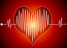 Heart Beat. Illustration with Heart Beat on dark background Royalty Free Stock Image