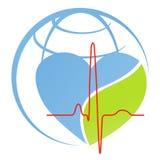 Heart beat. Illustration of heart beat design isolated on white background Royalty Free Stock Photo