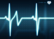 Heart Beat. A medical background with a heart beat / pulse with a heart rate monitor symbol Royalty Free Stock Images