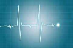 Heart beat cardiogram Royalty Free Stock Photography