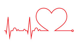Heart beat. Cardiogram. Cardiac cycle. Medical icon. Stock Photography