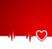 Heart beat cardiogram with heart shape Royalty Free Stock Images