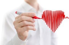 Heart beat chart Stock Images