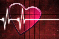 Heart beat on clinic monitor Royalty Free Stock Images